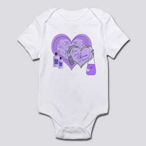 Diva at Heart - purple Infant Bodysuit