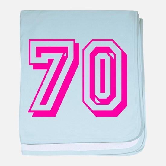 70 Pink Birthday baby blanket