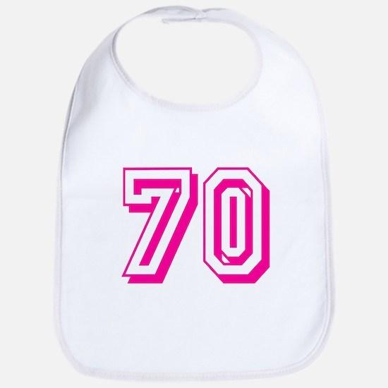 70 Pink Birthday Bib