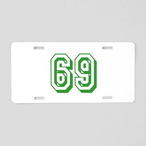 69 Green Birthday Aluminum License Plate