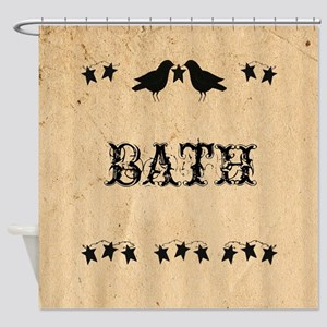 Crows And Stars Shower Curtain
