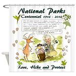 National Parks Centennial Shower Curtain