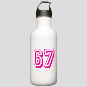67 Pink Birthday Stainless Water Bottle 1.0L