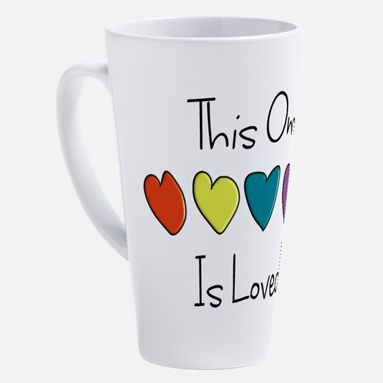 Unique I love my grandmother 17 oz Latte Mug