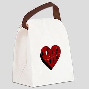 I LubDub Echo Canvas Lunch Bag