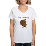 Happy Thanksgiving Women's V-Neck T-Shirt