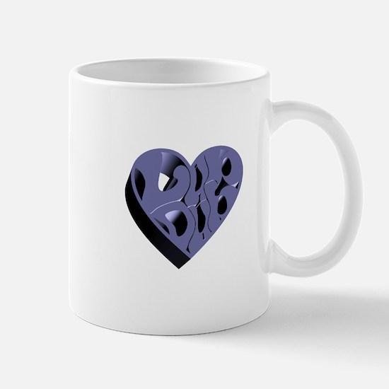 Blue Lub Dub 3D Mug