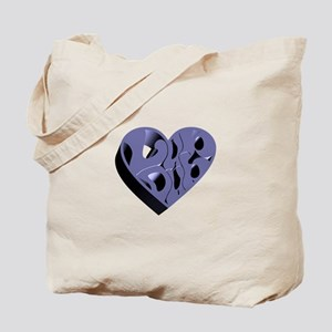 Blue Lub Dub 3D Tote Bag