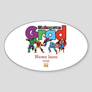Marvel Kindergarten Grad Personaliz Sticker (Oval)