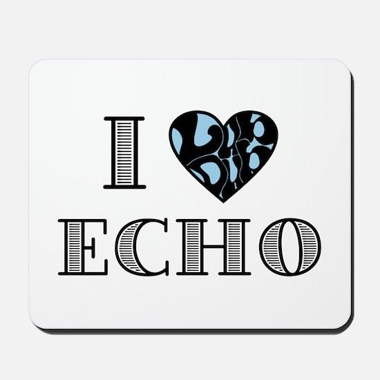 I LubDub Echo Blue Mousepad