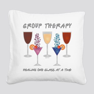 GROUP THERAPY Square Canvas Pillow