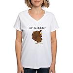Lil' Gobbler Women's V-Neck T-Shirt