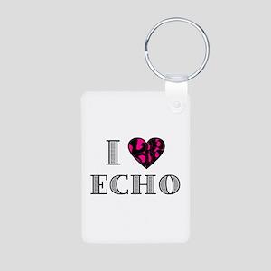 I LubDub Echo Hot Pink Aluminum Photo Keychain