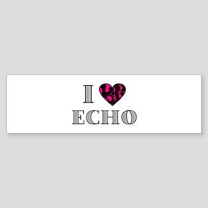 I LubDub Echo Hot Pink Sticker (Bumper)