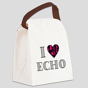 I LubDub Echo Hot Pink Canvas Lunch Bag
