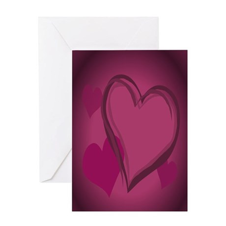 Valentine's Day Art Greeting Card Love Hearts Card