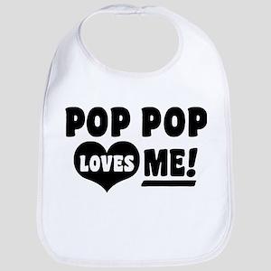 Pop Pop Loves Me Bib