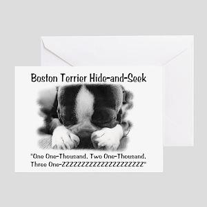 Boston Hide and Seek Greeting Cards