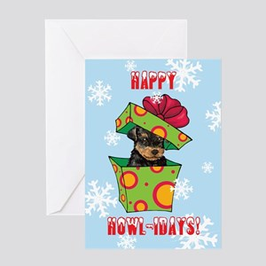 Holiday Airedale Greeting Card