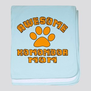 Awesome Komondor Mom Dog Designs baby blanket