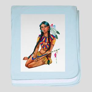 Ashley Brooke Cooper_Native Girl 2 baby blanket