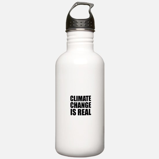 Climate Change is Real Water Bottle