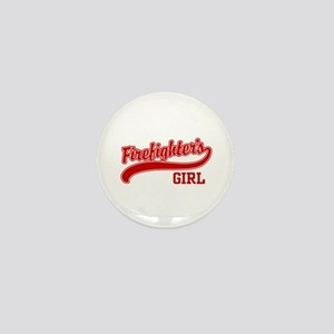 Firefighter's Girl Mini Button