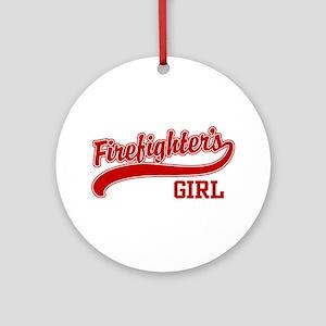 Firefighter's Girl Ornament (Round)