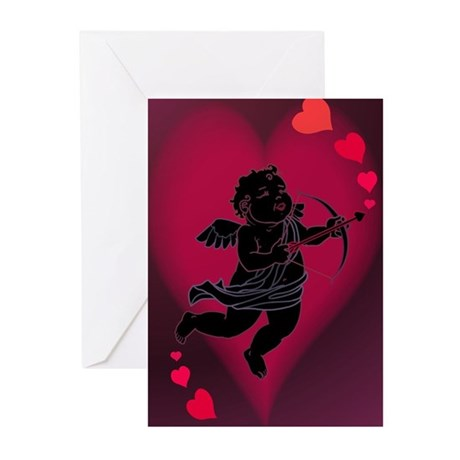 Cupid Love Valentines Greeting Cards (Pk of 20)