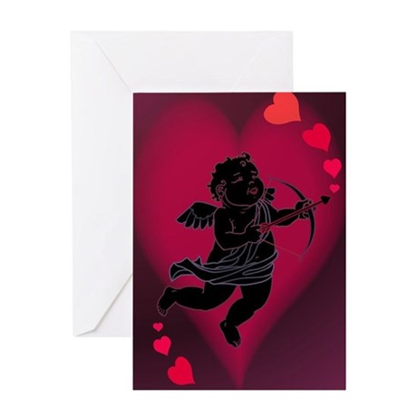 Cupid Love Valentines Greeting Card