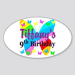 PERSONALIZED 9TH Sticker (Oval)