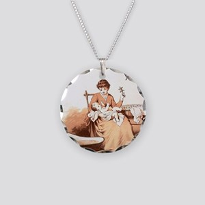 Baby's Morning Bath Necklace Circle Charm