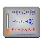 Rocket Equation And Rocket Thrust Mousepad