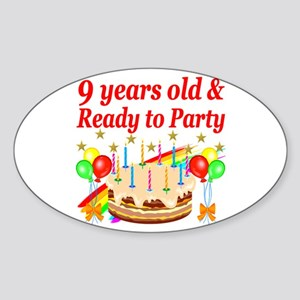 9TH BIRTHDAY Sticker (Oval)