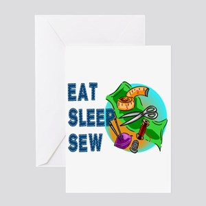 Eat Sleep Sew Greeting Cards