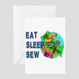 Eat Sleep Sew Greeting Cards