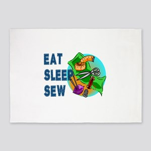 Eat Sleep Sew 5'x7'Area Rug