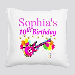 PERSONALIZED 10TH Square Canvas Pillow