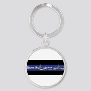 Corrections Thin Blue Line Keychains