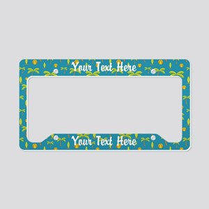 Custom Awesome Beach License Plate Holder