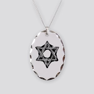 star of david Necklace Oval Charm