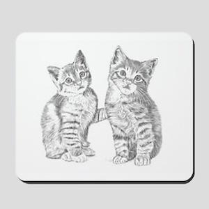 Tabby kittens Mousepad
