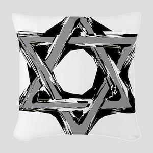 star of david Woven Throw Pillow