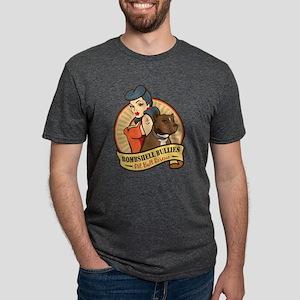 Large Pinup and dog logo NO SHADING T-Shirt