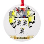 Skiffington Round Ornament