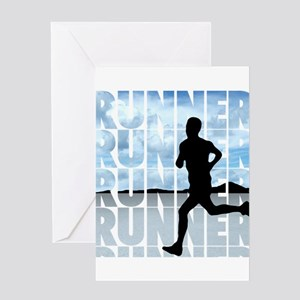 runner Greeting Cards