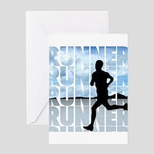 runner Greeting Cards