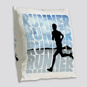 runner Burlap Throw Pillow