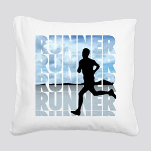runner Square Canvas Pillow