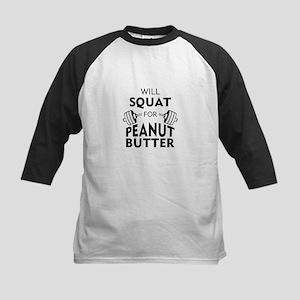 Will Squat for Peanut Butter Baseball Jersey